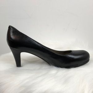 Naturalizer N5 Comfort Black Career Heels 3.5""